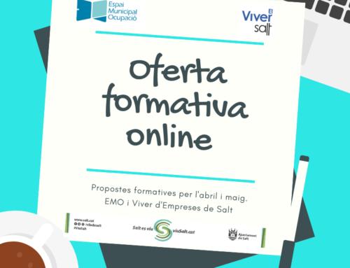Nova oferta formativa online de l'Espai Municipal d'Ocupació i del Viver d'empreses de Salt