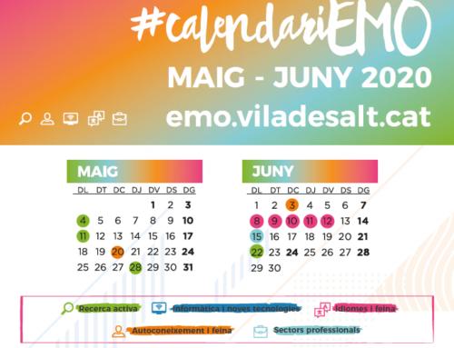 Calendari formatiu EMO maig i juny