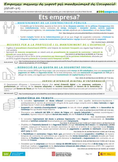 Infografia Mesures Empreses