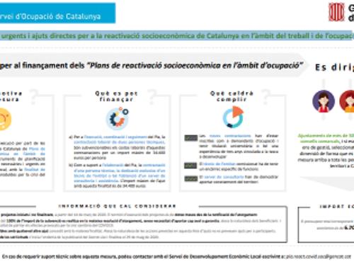 Pla de mesures urgents i ajuts directes per a la reactivació socioeconòmica de Catalunya en l'àmbit del treball i de l'ocupació