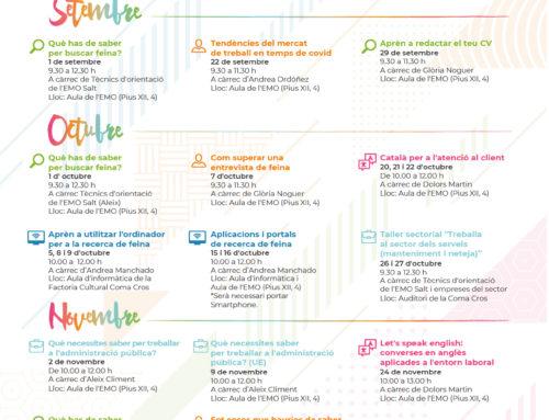 Calendari formatiu EMO Setembre a Desembre 2020